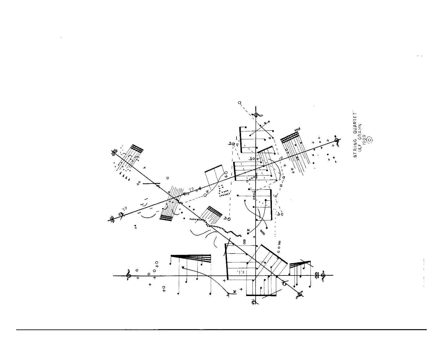 Graphic score for string quartet