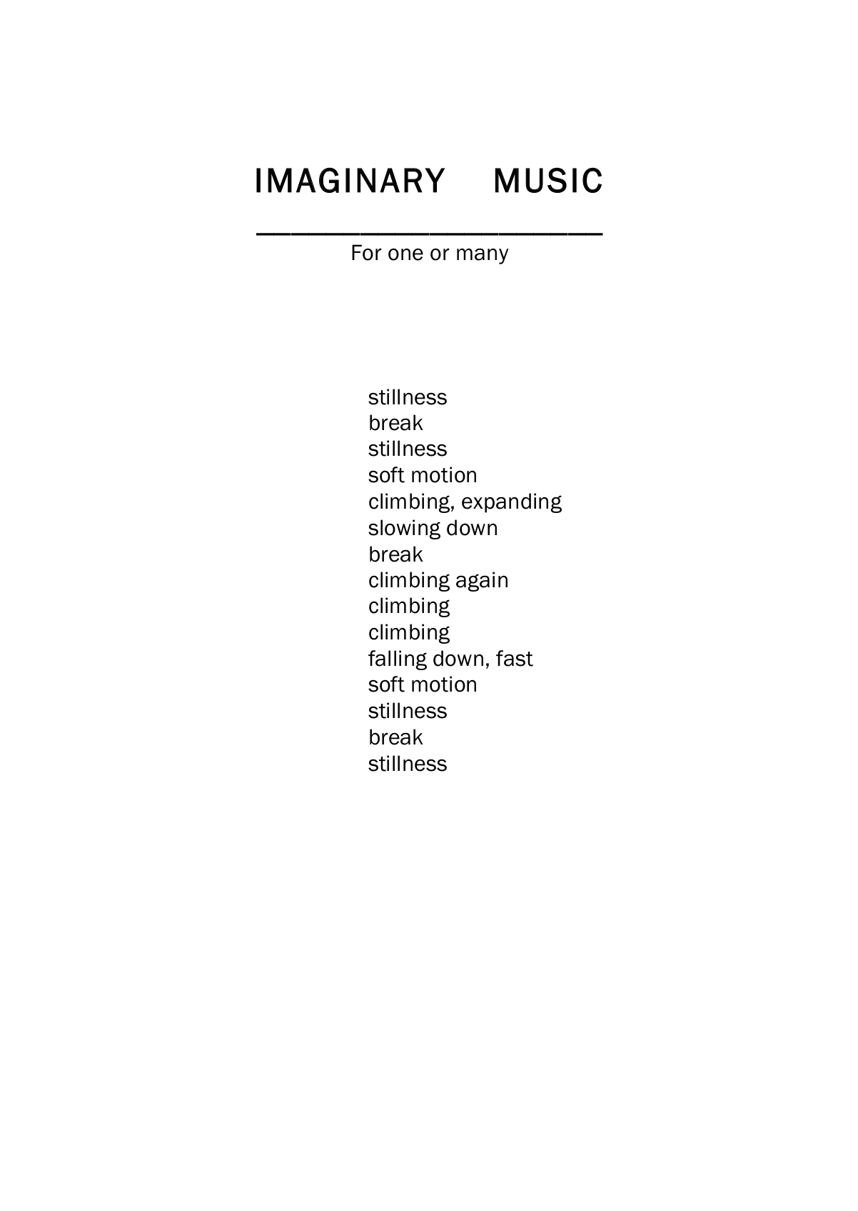 Imaginary music