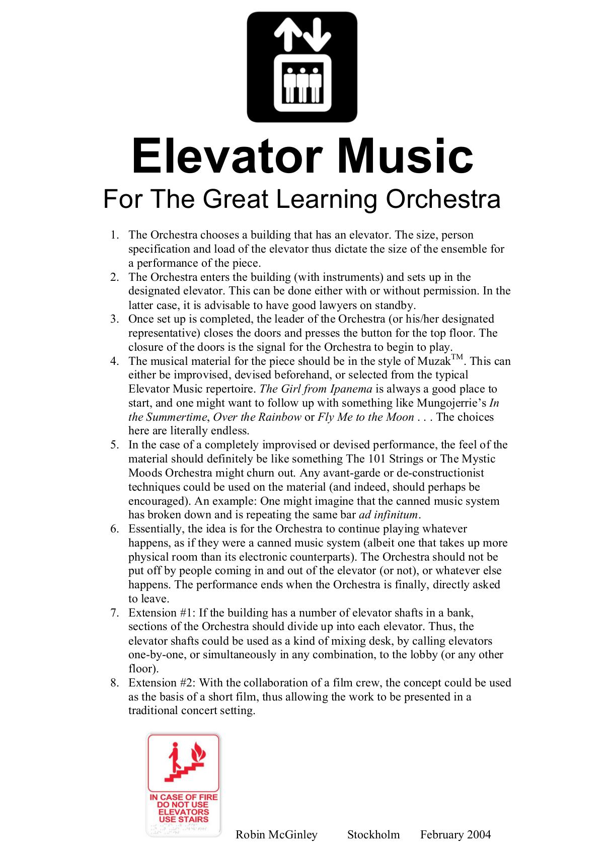 McGinley:Elevator Music