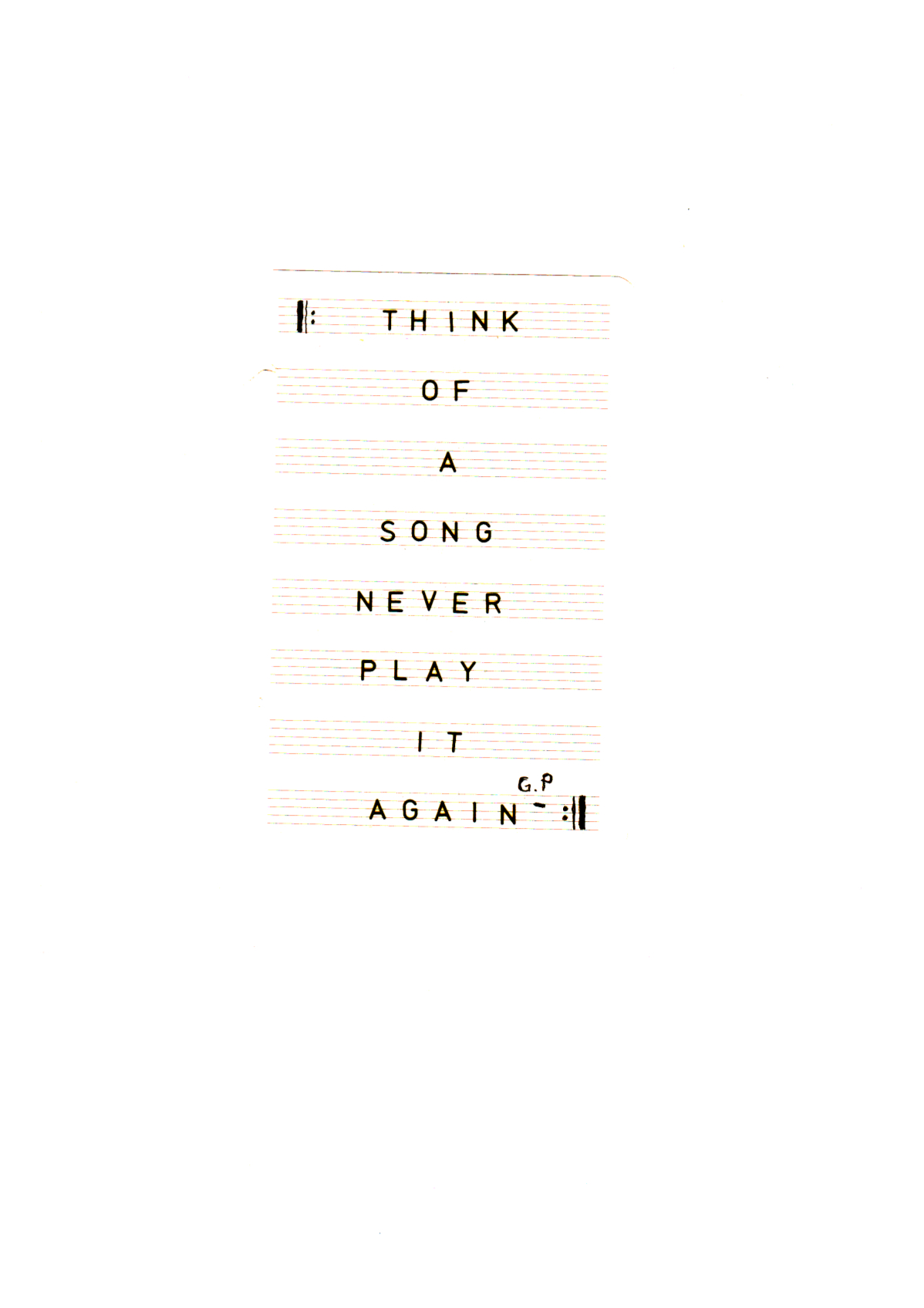 Think of a song